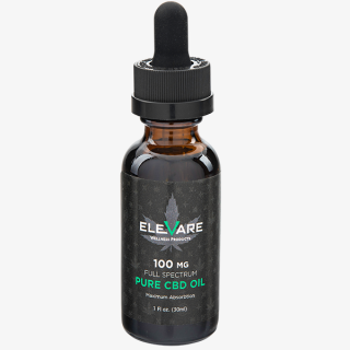 Elevare CBD Tincture Bottle 100 mg